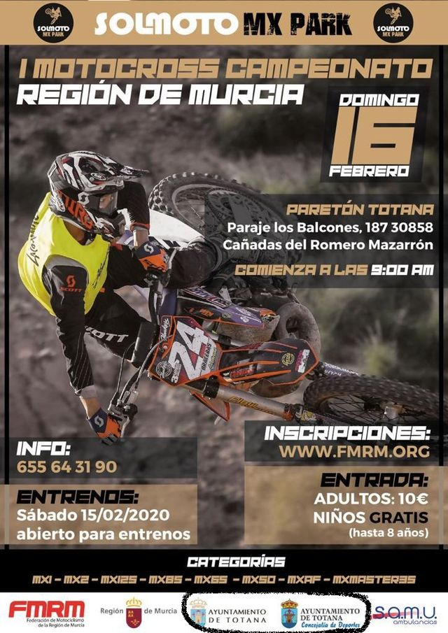 They will adopt legal measures to use the municipal corporate logos to announce, without consent, the I Motocross Championship Region of Murcia