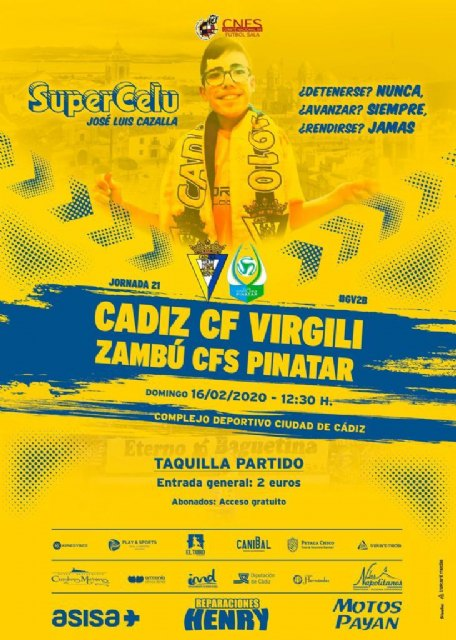 Zambú CFS Pinatar viaja a Cádiz en busca de Victoria - 1, Foto 1