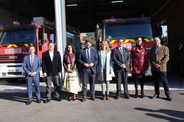 Inaugurado el parque de bomberos Alhama-Totana tras su remodelaci�n, Foto 1