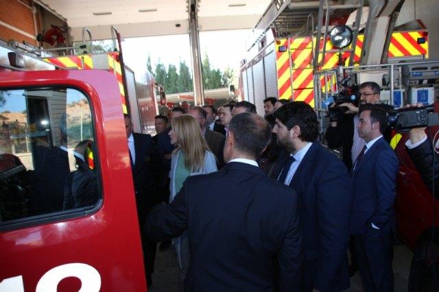 Inaugurado el parque de bomberos Alhama-Totana tras su remodelaci�n, Foto 4
