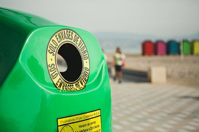 Cada murciano recicló 17,2 kilogramos de residuos de envases de vidrio, 65 envases por ciudadano, Foto 1