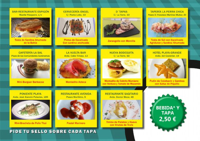 11 establecimientos ofrecen sus mejores aperitivos en la Ruta de la Tapa de Puerto de Mazarrón, Foto 1