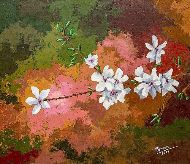 Exposición de pintura, en Alhama de Murcia, Paisajes y algunas flores, de Ramón Victoria - 4, Foto 4