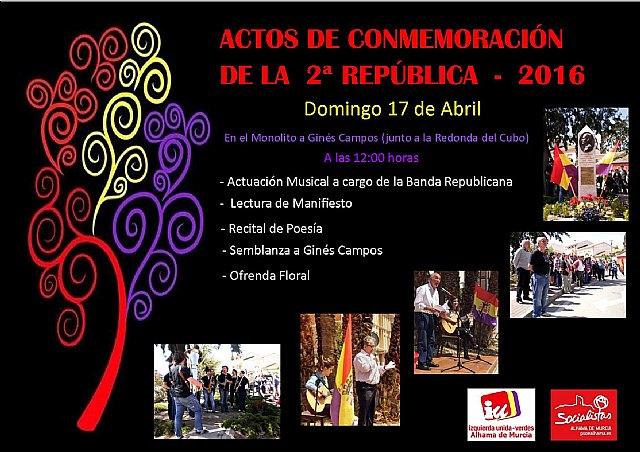 El próximo domingo se inician los actos del Día de la República en Alhama, Foto 1