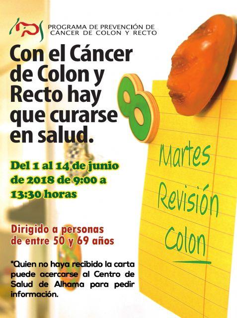 Programa de Prevención de Cáncer de Colon y Recto. Del 1 al 14 de junio de 2018, Foto 1