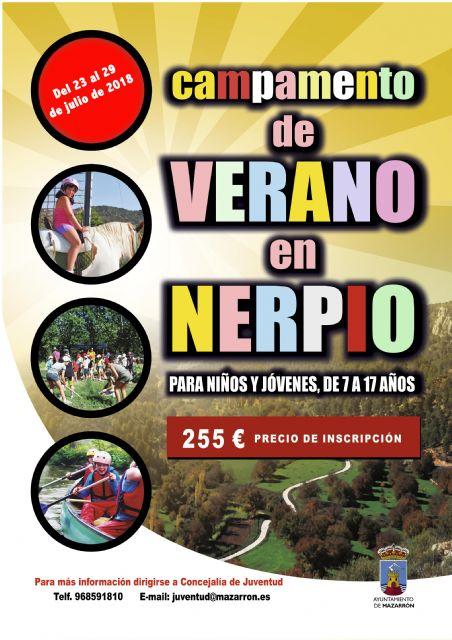 La concejalía de Juventud organiza un nuevo campamento de verano en Nerpio del 23 al 29 de julio, Foto 1