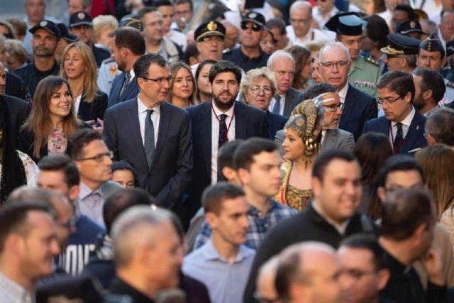 Fernando López Miras asiste a la eucaristía de despedida de la Virgen de la Fuensanta - 2, Foto 2