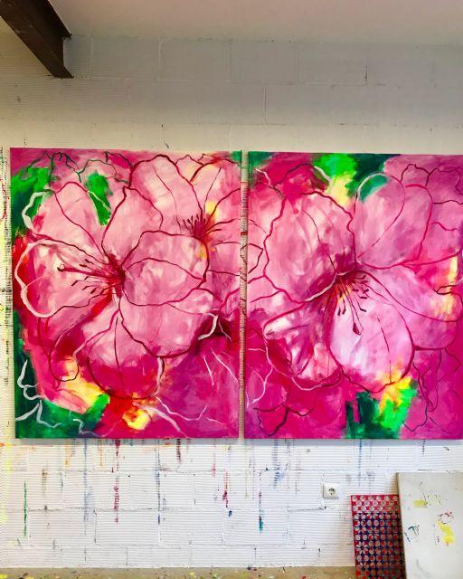 El Palació Almudí acoge una exposición de obra reciente de MUHER sobre temática floral, Foto 4