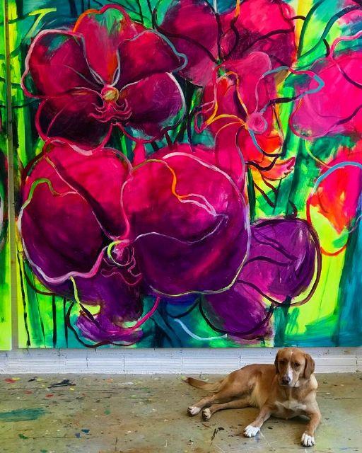 El Palació Almudí acoge una exposición de obra reciente de MUHER sobre temática floral, Foto 8