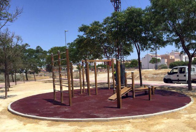 Parques y Jardines revisa las 15 zonas de calistenia de Murcia y sus pedanías - 1, Foto 1