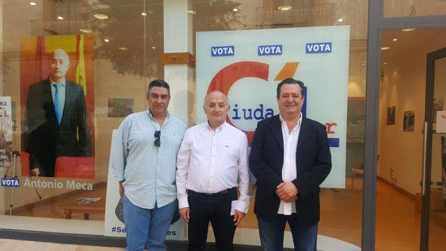 Jesús Manzano, coordinador general de Coalición de Centro Democrático (CCD) pide el voto para Ciudalor en las elecciones municipales a la alcaldía de Lorca del 26 de mayo - 1, Foto 1