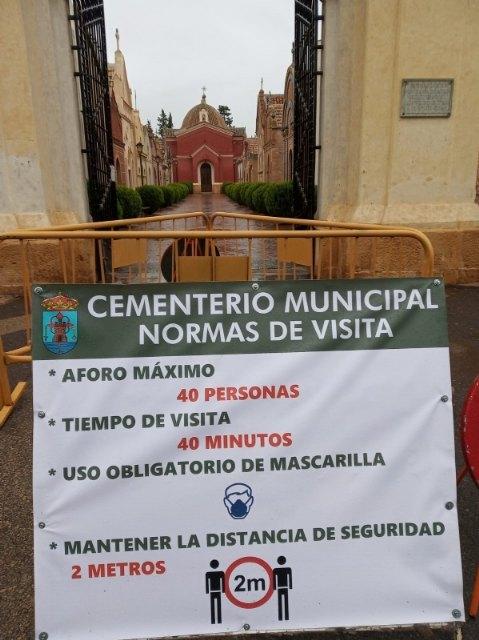 Abre el Cementerio Municipal con rigurosas medidas de seguridad e higiene