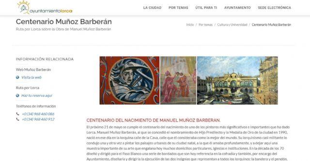 El Ayuntamiento de Lorca organiza una serie de actos para conmemorar el centenario del nacimiento del pintor lorquino Manuel Muñoz Barberán - 1, Foto 1
