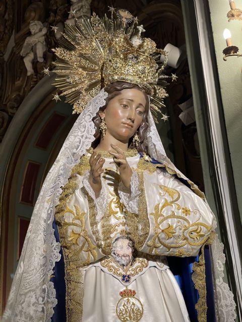 La Virgen del Amor Hermoso recibe un fajín con la imagen de su hijo Resucitado - 5, Foto 5