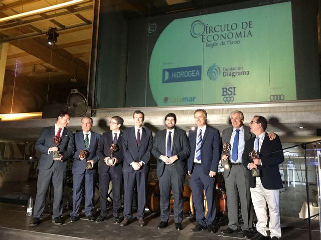 Fernando López Miras asiste al acto organizado con motivo del 20 aniversario del Círculo de Economía de la Región - 3, Foto 3
