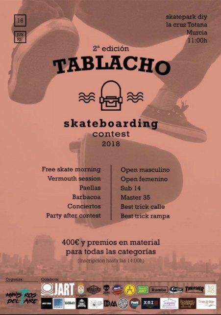 "The skatepark La Cruz hosts this Saturday June 16 the second edition of ""Tablacho Skateboarding Contest 2018"", Foto 2"