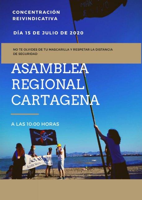 Convocan una concentración reivindicativa para el próximo miércoles en defensa del Mar Menor - 1, Foto 1