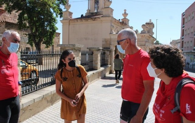 [El Ayuntamiento de Totana felicita a los dos peregrinos eulalienses que han recorrido 782 kilómetros en bicicleta para llegar a Mérida desde el Santuario de La Santa