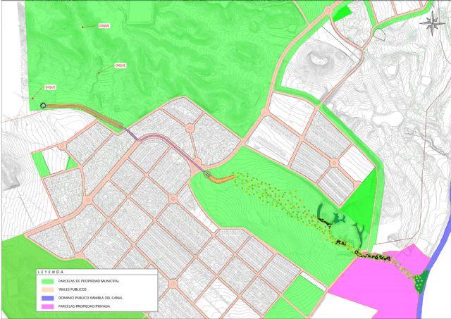 La Confederación Hidrográfica acepta la propuesta del Ayuntamiento para encauzar la rambla de los Aznares en Camposol - 1, Foto 1