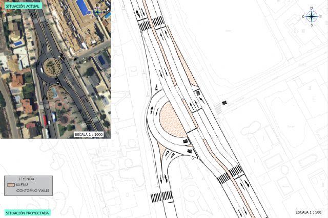 La nueva rotonda del Caballito mejorará la movilidad y eliminará los atascos en La Manga - 1, Foto 1