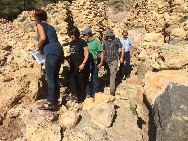 Técnicos de Patrimonio Histórico de la Comunidad Autónoma evalúan el estado de la muralla del yacimiento arqueológico de La Bastida - 5, Foto 5
