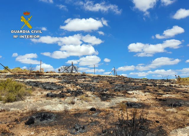 La Guardia Civil investiga al presunto autor del incendio de cerca de cuatro hectáreas de terreno forestal - 3, Foto 3