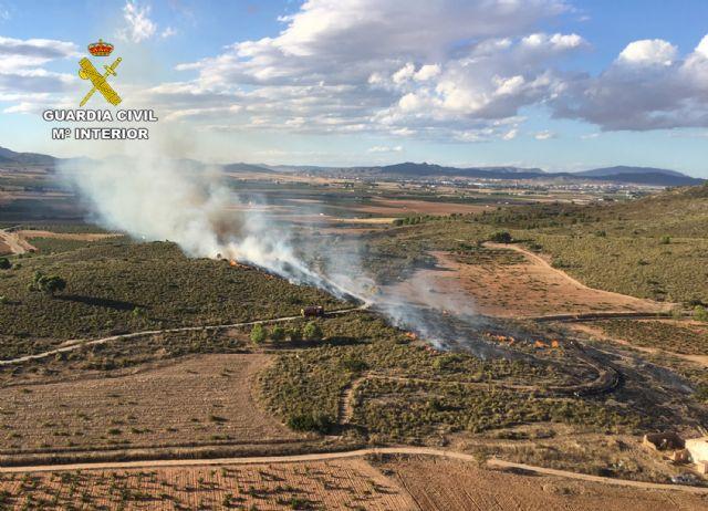 La Guardia Civil investiga al presunto autor del incendio de cerca de cuatro hectáreas de terreno forestal - 4, Foto 4