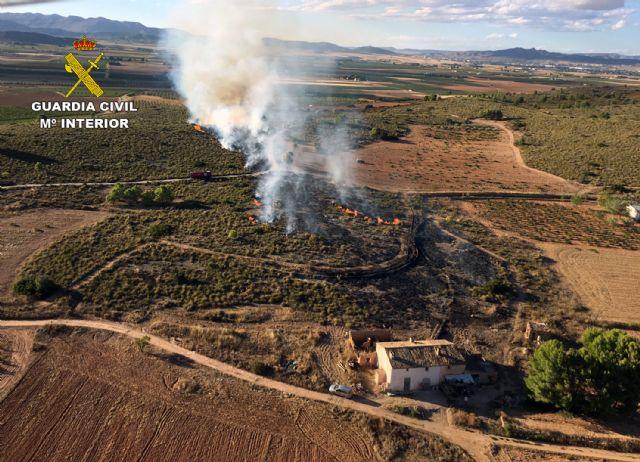 La Guardia Civil investiga al presunto autor del incendio de cerca de cuatro hectáreas de terreno forestal - 5, Foto 5