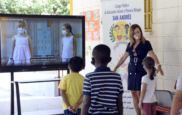 Más de 28.000 alumnos de Infantil y Primaria del municipio de Murcia inician el curso escolar 2020/2021 - 1, Foto 1