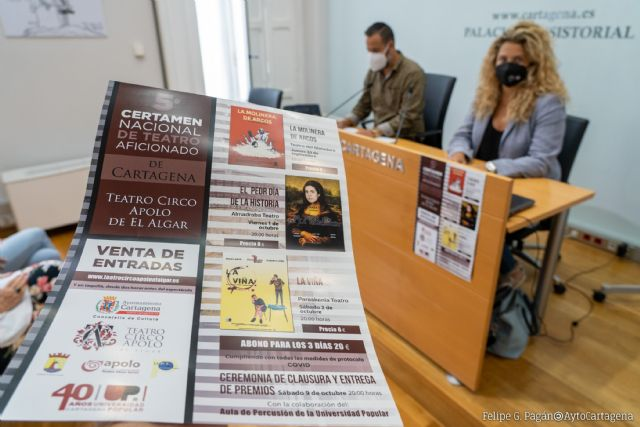 Tres compañías aspiran a hacerse con los premios del V Certamen Nacional de Teatro de Aficionado de Cartagena - 1, Foto 1