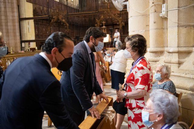 López Miras asiste a la misa en honor a la Virgen de la Fuensanta - 1, Foto 1