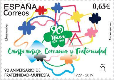 Correos emite un sello que conmemora el 90 aniversario de Fraternidad-Muprespa - 1, Foto 1