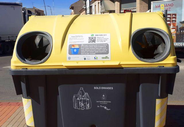 Vinilos informativos en los contenedores de Las Torres de Cotillas para facilitar el reciclaje - 2, Foto 2