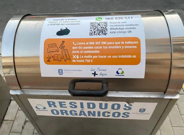 Vinilos informativos en los contenedores de Las Torres de Cotillas para facilitar el reciclaje - 3, Foto 3