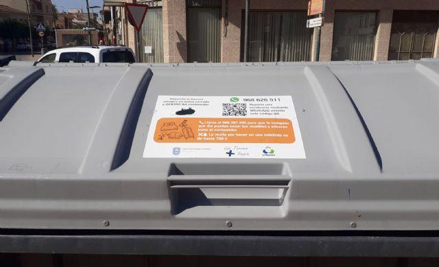Vinilos informativos en los contenedores de Las Torres de Cotillas para facilitar el reciclaje - 4, Foto 4