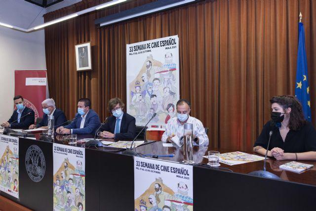 La XXXIII Semana de Cine español de Mula y el XXVIII Certamen Nacional de Cortos se presentan en el Rectorado de la UMU - 1, Foto 1