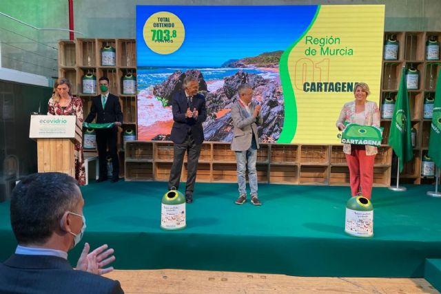 Bandera Verde para la hostelería de Cartagena por el reciclaje de vidrio - 1, Foto 1