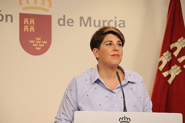 La portavoz del Gobierno regional, Noelia Arroyo, compareció hoy en rueda de prensa para informar de los asuntos del Consejo de Gobierno., Foto 1