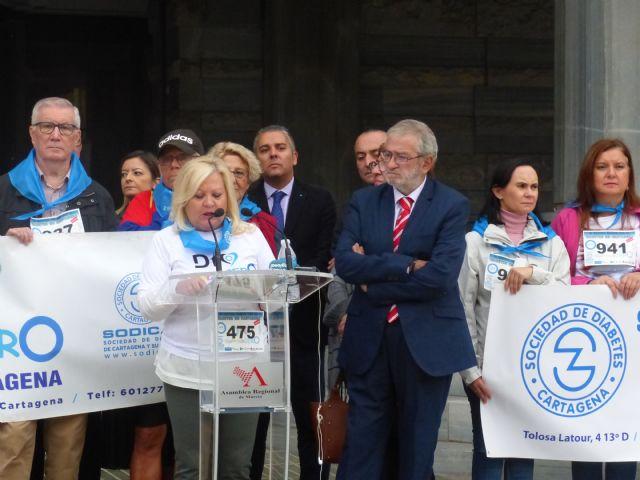La Asamblea Regional se suma a la campaña de la concienciación del Día Mundial de la Diabetes, Foto 3