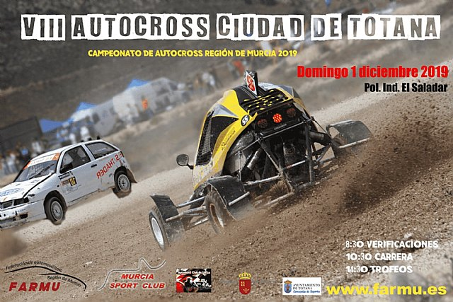 "The 8th edition of the ""Autocross City of Totana"" will take place on December 1"