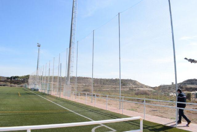 El Complejo Deportivo estrena una nueva red para uno de los campos de fútbol, Foto 3