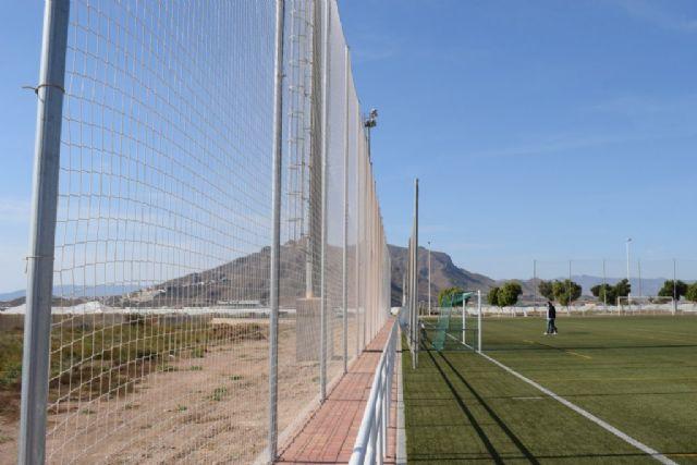 El Complejo Deportivo estrena una nueva red para uno de los campos de fútbol, Foto 4