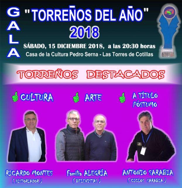 El historiador Ricardo Montes, la familia Alegría y el fallecido Antonio Sarabia, nombrados Torreños del Año 2018 - 1, Foto 1