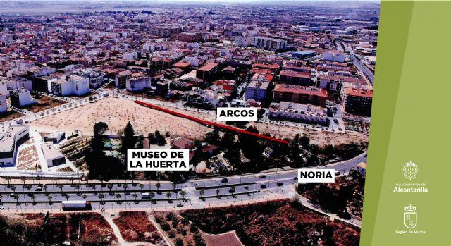 Un anfiteatro con los arcos del acueducto como fondo en las nuevas zonas de cultura y ocio junto al Museo de la Huerta de Alcantarilla - 3, Foto 3