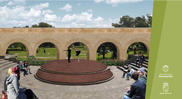 Un anfiteatro con los arcos del acueducto como fondo en las nuevas zonas de cultura y ocio junto al Museo de la Huerta de Alcantarilla - 4, Foto 4