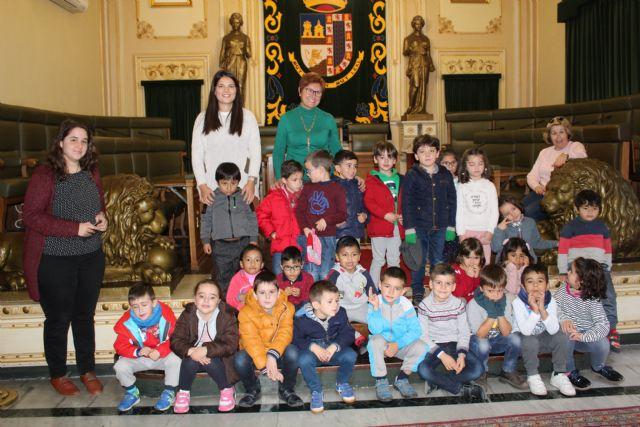 Alumnos del Colegio Mariano Suárez visitan el Ayuntamiento de Jumilla - 1, Foto 1