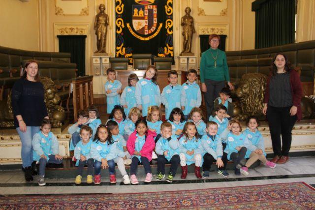 Alumnos del Colegio Mariano Suárez visitan el Ayuntamiento de Jumilla - 2, Foto 2