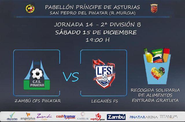 Zambú CFS Pinatar quiere sorprender al líder Leganés FS este sábado en casa - 1, Foto 1