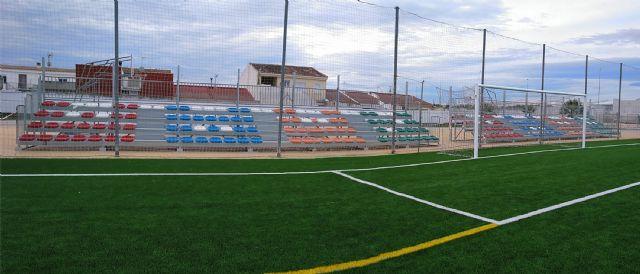 El campo de fútbol municipal Onofre Fernández Verdú ya luce renovado su césped artificial - 1, Foto 1