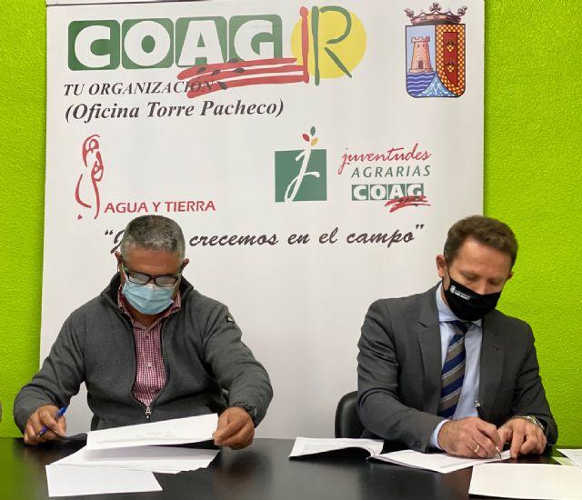 El Ayuntamiento de Torre Pacheco renueva convenio de colaboración con la Asociación de Agricultores y Ganaderos de Torre Pacheco, COAG - 1, Foto 1